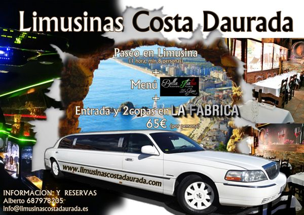 Limusina con Restaurante y Discoteca
